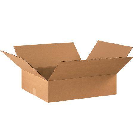 Partners Brand Flat Corrugated Boxes 22 X 18 X 6 Kraft 20 Bundle Bs221806 Walmart Com Corrugated Box Corrugated Carton Corrugated Shipping Boxes