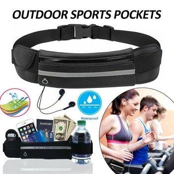 Men Women Running Waist Bag Pouch Jogging Sport Belt Mobile Phone Hidden Bags