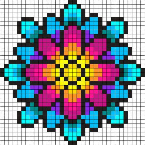 Bead Loom Patterns 88812 Something Wonderful Perler Bead Pattern / Bead Sprite Kandi Patterns, Bead Embroidery Patterns, Bead Loom Patterns, Perler Patterns, Beading Patterns, Cross Stitch Embroidery, Cross Stitch Patterns, Knitting Patterns, Art Patterns