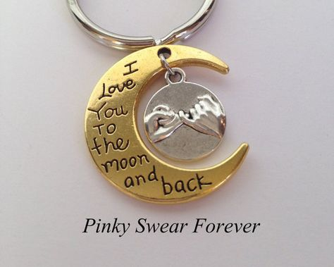 Christmas Gift, Anniversary Gift for Boyfriend, Gift for Girlfriend, Pinky Promise, Gift for Husband, I Love You To The Moon, Gift for Her