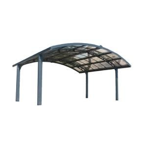 Palram Arizona 5000 Wave 9 Ft 6 In X 16 Ft 3 In X 9 Ft H Carport With Corrugated Solar Gray Polycarbonate Roof Panels 703727 Double Carport Polycarbonate Roof Panels Carport