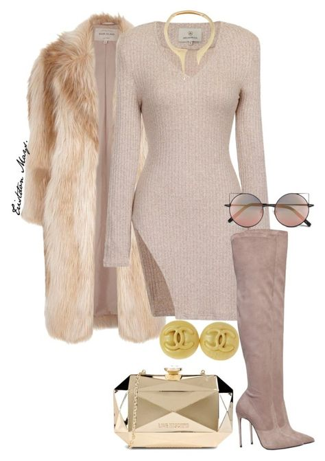 """Fall Opulence."" by monroestyles ❤ liked on Polyvore featuring River Island, Le Silla, Giuseppe Zanotti, Love Moschino, Linda Farrow and Chanel"