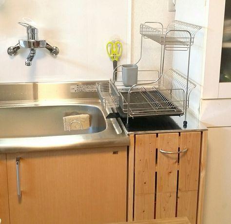 家族が多いと 水切りかごって必需品ですよね でも調理台に置くと