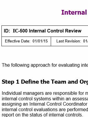 Internal Control Templates | Copedia | Internal control