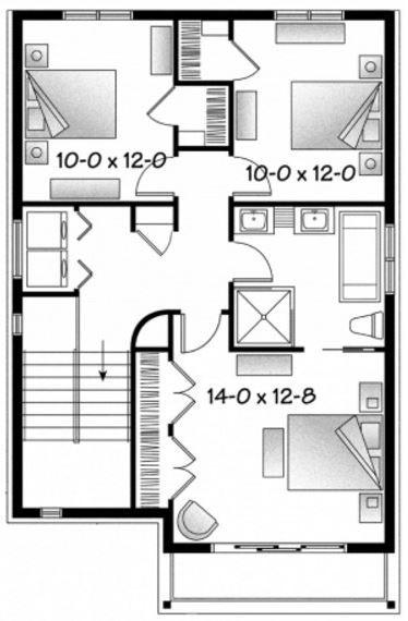 Planos De Casas De 7 X 15 Metros Disenos De Casas Planos De Casas Sencillas Planos De Casas