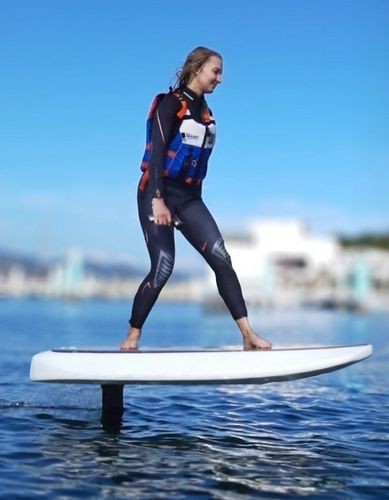 Ride the Waydoo Flyer electric surfboard to enjoy the