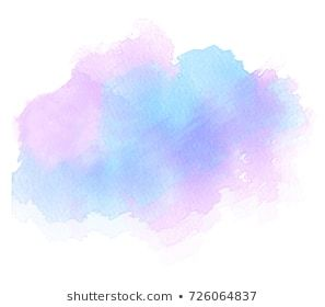 Watercolor Colorful Paper Texture Brush Paint Vector Isolated