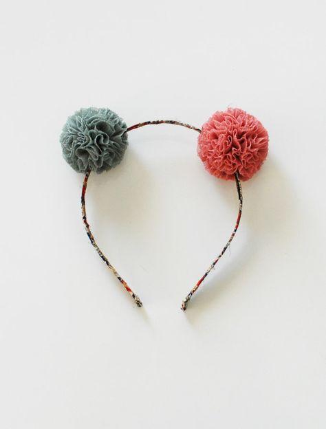 the | mini pom | headband