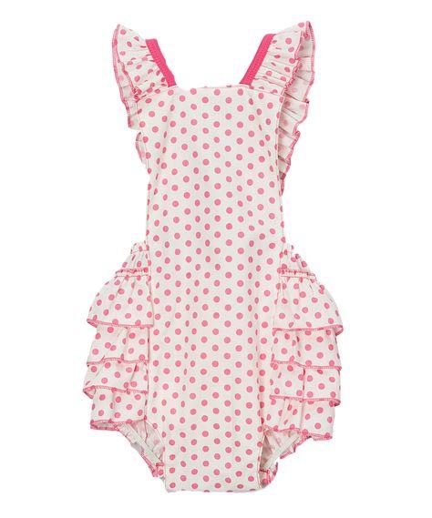 Zutano Baby Girls/' Ellas Elephant Ruffle Bubble Top Ella 3M Pink Purple Summer