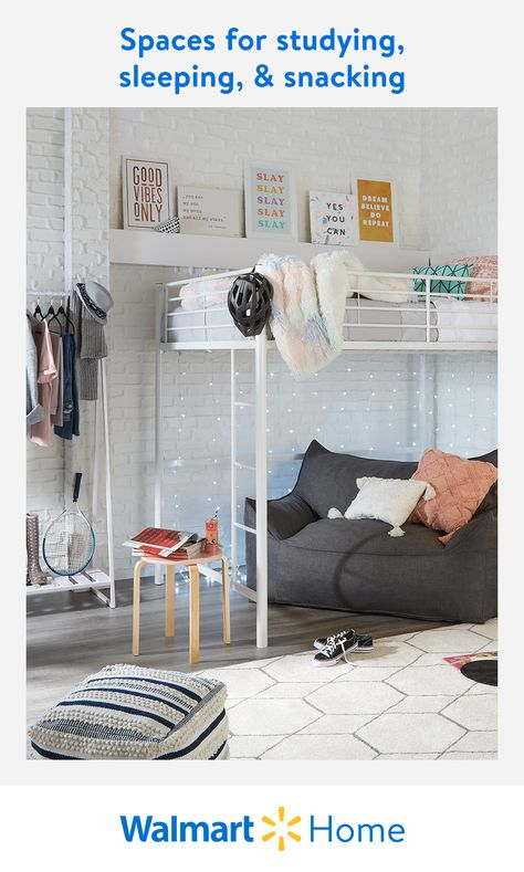 When your study, snack, and hang zones are all the same space, functionality and convenience are key. At Walmart, find multipurpose furniture, futons, and more pieces that make every inch count. #WalmartHome