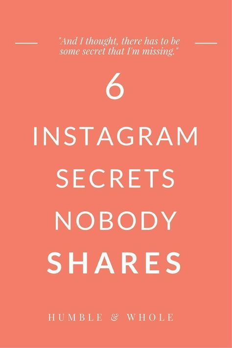 Instagram is one of the best platforms that you can use for finding and interacting with your target audience.  We're sharing six Instagram secrets to help you boost your engagement, increase your followers, and find your target audience.