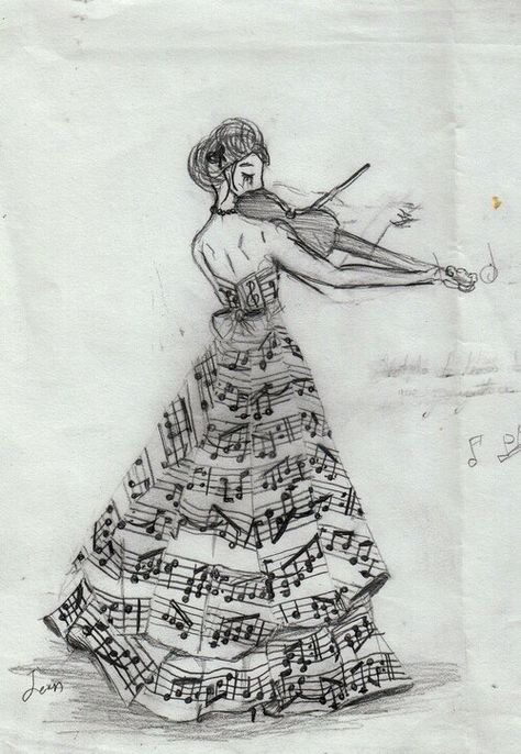 Make the dress  and wrap music flowing around it. Flip her around to have violin in left arm and bend it. Perfect quarter sleeve tattoo i want!!!