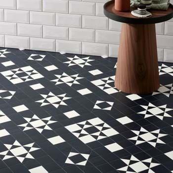 Geo Onyx - A Beautiful Victorian-inspired design floor in