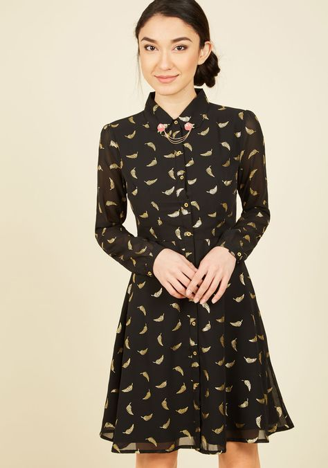 Quilling Time Shirt Dress
