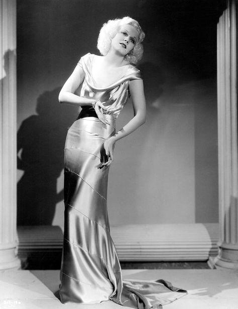 Hollywood actress Jean Harlow, 1935
