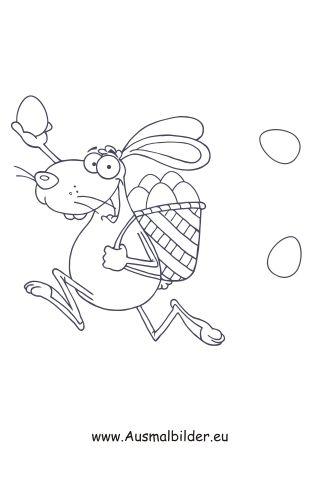 Laufender Osterhase Ostern Zum Ausmalen Osterhase Osterhase Malen