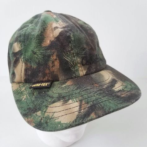 742fbc228 Cabela's Camo GoreTex Hat Waterproof Ball Cap Made in USA Hunting ...