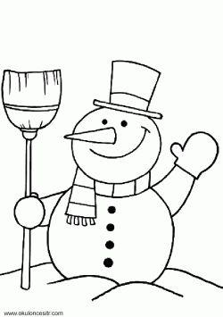 Kardan Adam Boyama Sayfası Okul öncesi