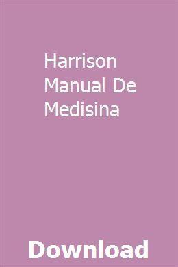 Harrison Manual De Medisina Workshop Manual Repair Manuals
