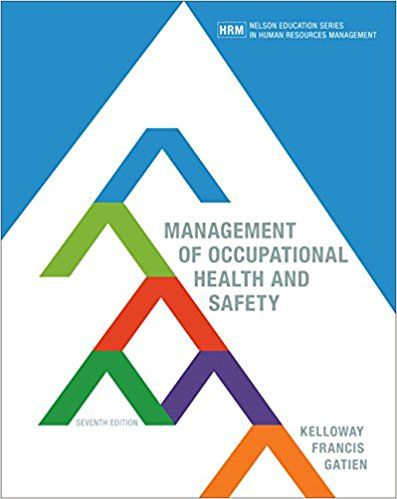 Pin On Management Of Occupational Health And Safety Canadian 7th