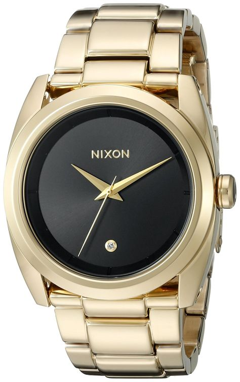 Nixon Women's A935510 Queenpin Analog Display Japanese Quartz Gold Watch ** Check out this great watch.