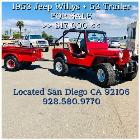 1953 Cj3a Trailer Phx Az0 Willys Jeep