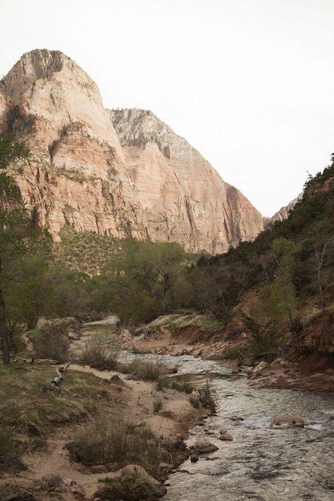 Zion National Park, Utah canyon river