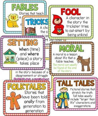 Best  Folktale Anchor Chart Ideas On   Folktale Tall