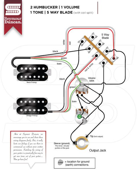 Wiring Diagrams | Guitar diy, Guitar tech, Guitar pickups | Guitar Wiring Diagrams Humbucker 5 Way |  | Pinterest