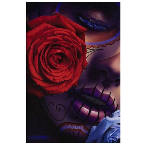 e77478e24b966 Details about Amor Eterno by Daniel Esparza Tattoo Art Print Day of the  Dead Sugar Skull