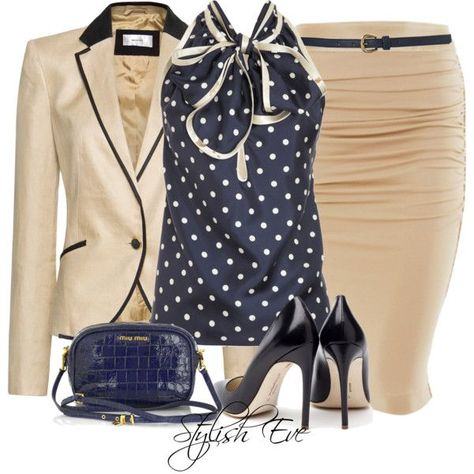Stylish Eve Outfits 2013: Formal Wear with Pencil Skirts -Need!