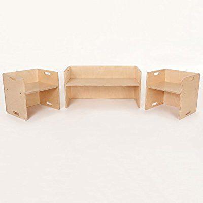 Flixi Kindermöbel Set 2 Kinderstühle Eine Sitzbank
