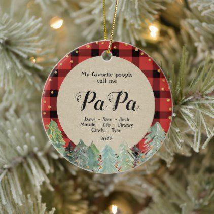 Papa Christmas Ornament Zazzle Com Winter Christmas Gifts Christmas Ornaments Family Christmas Ornaments