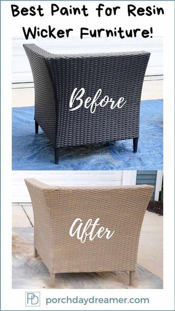 Spray Paint Outdoor Resin Wicker Furniture In 2020 Spray Painting Outdoor Furniture Painting Wicker Furniture Resin Wicker Furniture