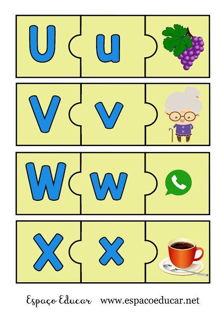 Jogo Pedagogico Educativo De Alfabetizacao Para Imprimir Colorido