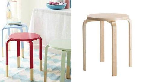 Ikea hacking idee per personalizzare lo sgabello frosta