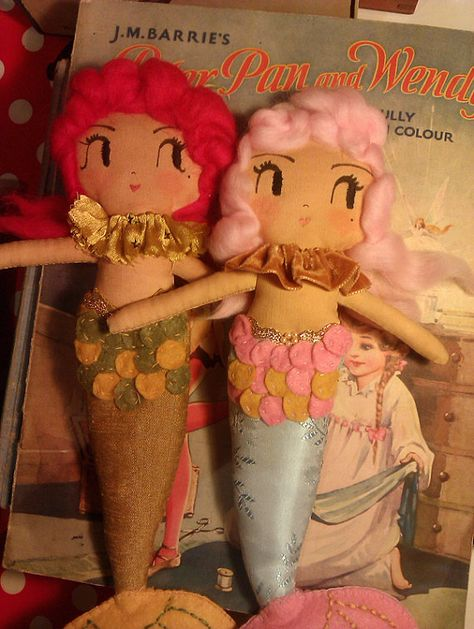 Merry Mermaid Oneofakind handmade art doll by CuriousPip on Etsy, £37.50