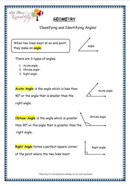 Grade 3 Maths Worksheets 14 7 Geometry Classifying And Identifying Angles Lets Share Knowledge 3rd Grade Math Math Worksheet 3rd Grade Math Worksheets