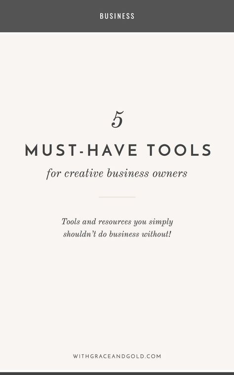 creative 5 Must-Have Tools for Creative...