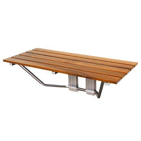 Clevr Double 36 Inch Folding Shower Bench Seats Teak Wood Modern