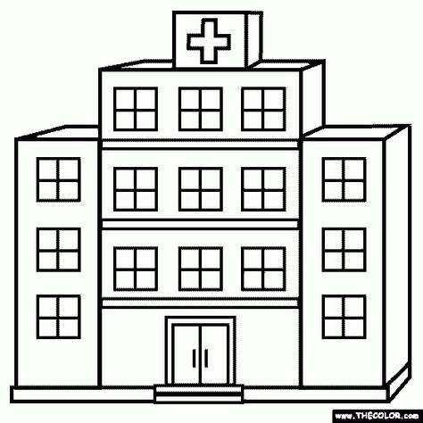 Hospital Clipart Black And White Coloring Pages Free Coloring Pages Coloring Pages For Kids