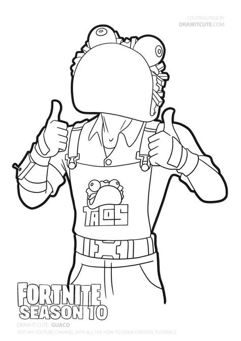Mr. Love- Fortnite Valentine's Coloring Page