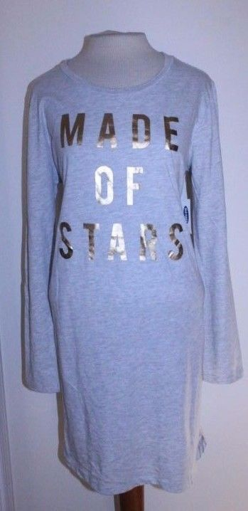 Old Navy Dress S M L Gra Metallyic 'Made of Stars' Christmas ...
