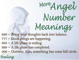 Numerology Angel Number Meanings 666 777 888 999 000