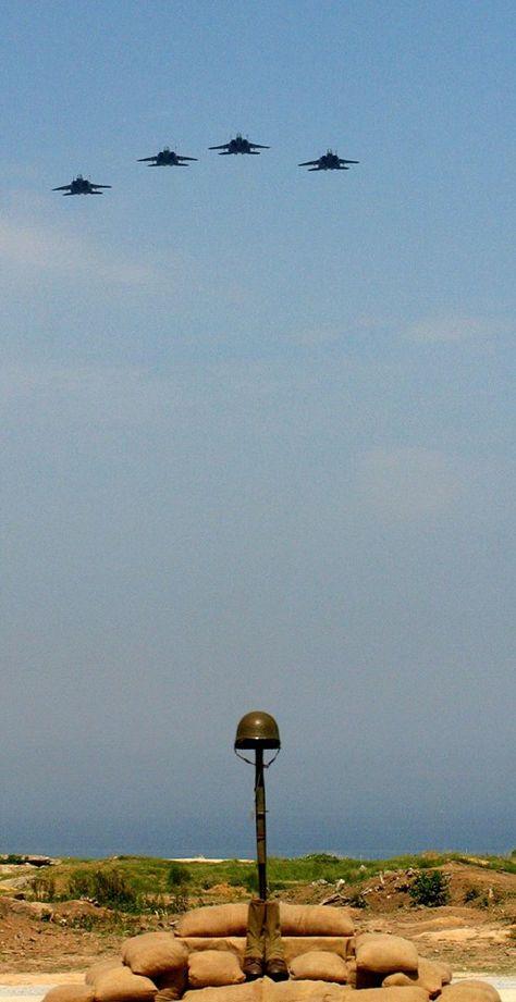 Missing man formation, Pointe Du Hoc, 2014.