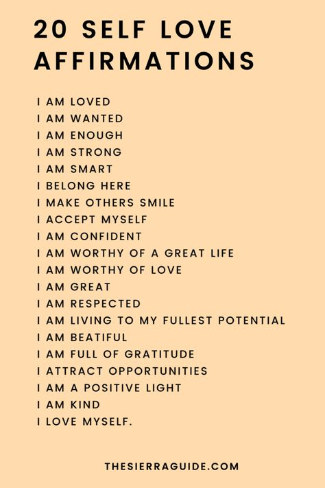#selflovequotes #quotes #selflove #affirmations #mantras #iam #love #selfcare #selfworth #positivity #thesierraguide