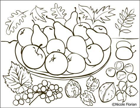 List Of Pinterest Toamna De Colorat Fructe De Images
