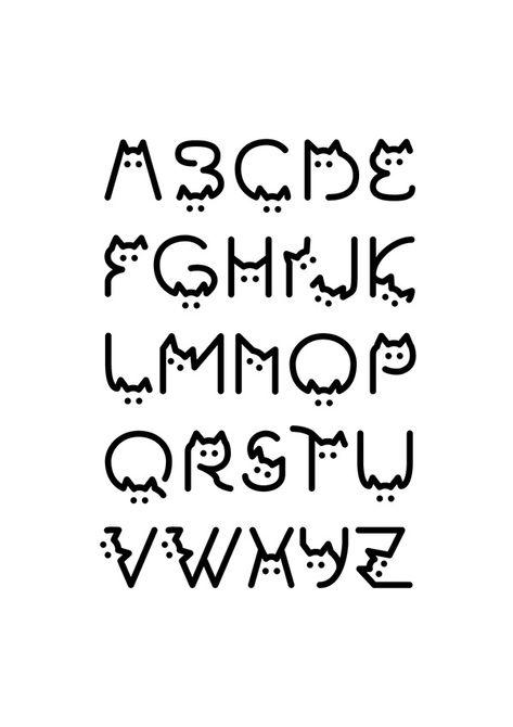 Graffiti Lettering Fonts, Hand Lettering Alphabet, Creative Lettering, Fancy Fonts Alphabet, Alphabet In Different Fonts, Handwriting Fonts Alphabet, Abc Font, Tattoo Fonts Alphabet, Calligraphy Fonts Alphabet