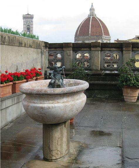 Terrazza Della Galleria Degli Uffizi Di Firenze In