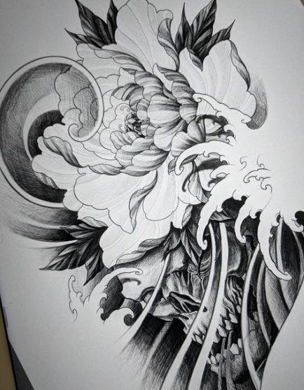 27 Super Ideas For Tattoo Flower Sleeve Sketches Drawings Japanese Tattoo Art Body Art Tattoos Japanese Tattoo Designs